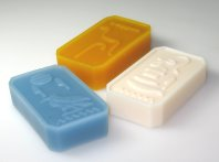 Silicone moulds for soap casting