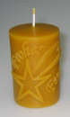 "Candle mould: Star (Text german: ""Frohes Fest"")"