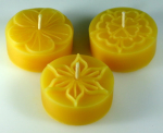 Tealight mould for 3 BIG-tealights (3 different flower motives)