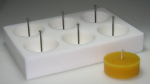 Tealight mould for 6 BIG-tealights (smooth surface)
