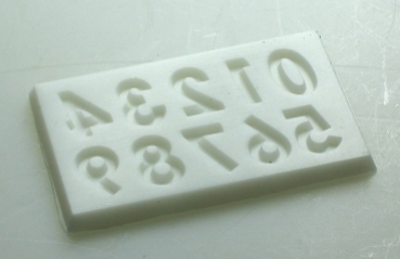 Mould for Arabic numerals (verzier-3)