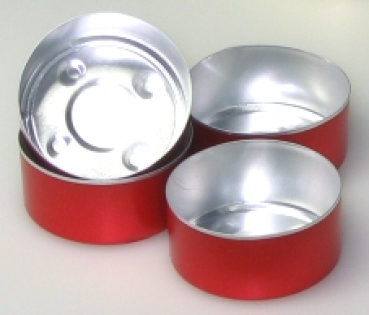 Red Alu bowls 100 pieces (Alu-100-ROT)