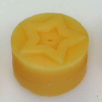 Tealight mould for 4 tealights (4 different christmas motives) - Motif: STAR