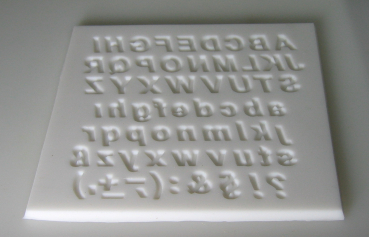 Mould for letters and punctuation marks (verzier-8)