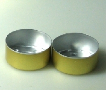 Golden Alu bowls 2000 pieces (Alu-2000-GOLD)