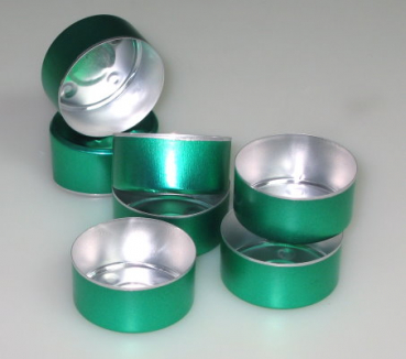 Green Alu bowls 100 pieces (Alu-100-GRÜN)