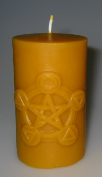 Mould: Candle with pentagram (F-my-3)