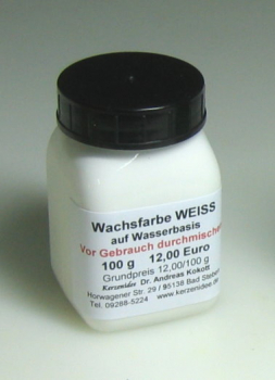 100 g WHITE Hydro-Wax paint for candles