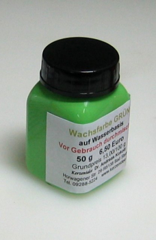 50 g GREEN Hydro-Wax paint for candles
