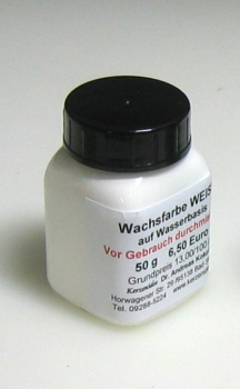 50 g WHITE Hydro-Wax paint for candles