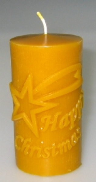 "Candle mould: Star ""Happy Christmas"" (F-W1-eng)"