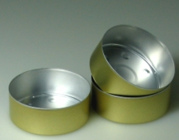 Golden 50 Alu bowls MAXI 59 mm diameter (Alu-gross-50-GOLD)