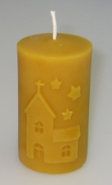 Candle mould: Church and stars (F-W8)