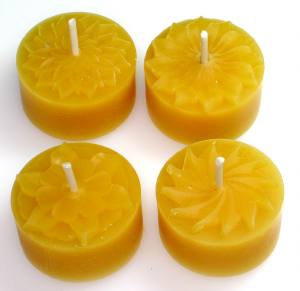 Tealight mould for 4 tealights (4 different flowers)
