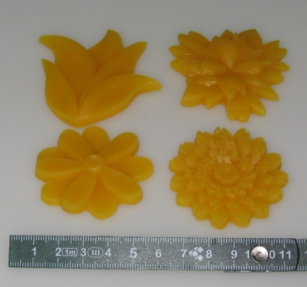 Mould for Reliefs: 4 flowers (F-AN-1)