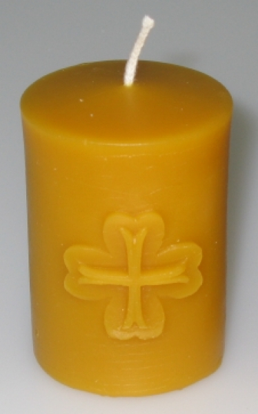 Mould: Candle with templar cross (F-my-1)
